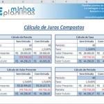 Planilha Cálculo de Juros Compostos