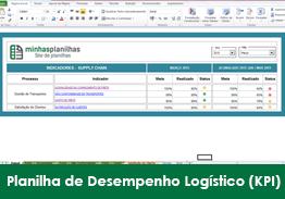 Planilha Indicadores de Desempenho Logístico (KPI) Grátis