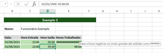 Horas no Excel