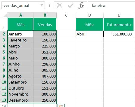 Planilha Gerenciador de Nomes Excel