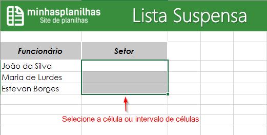 Lista Suspensa Excel