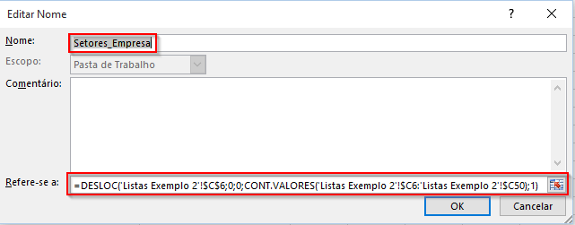 Menu DropDown Excel