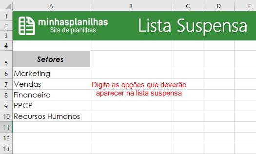 Lista Suspensa
