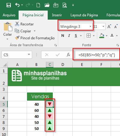 Desempenho no Excel