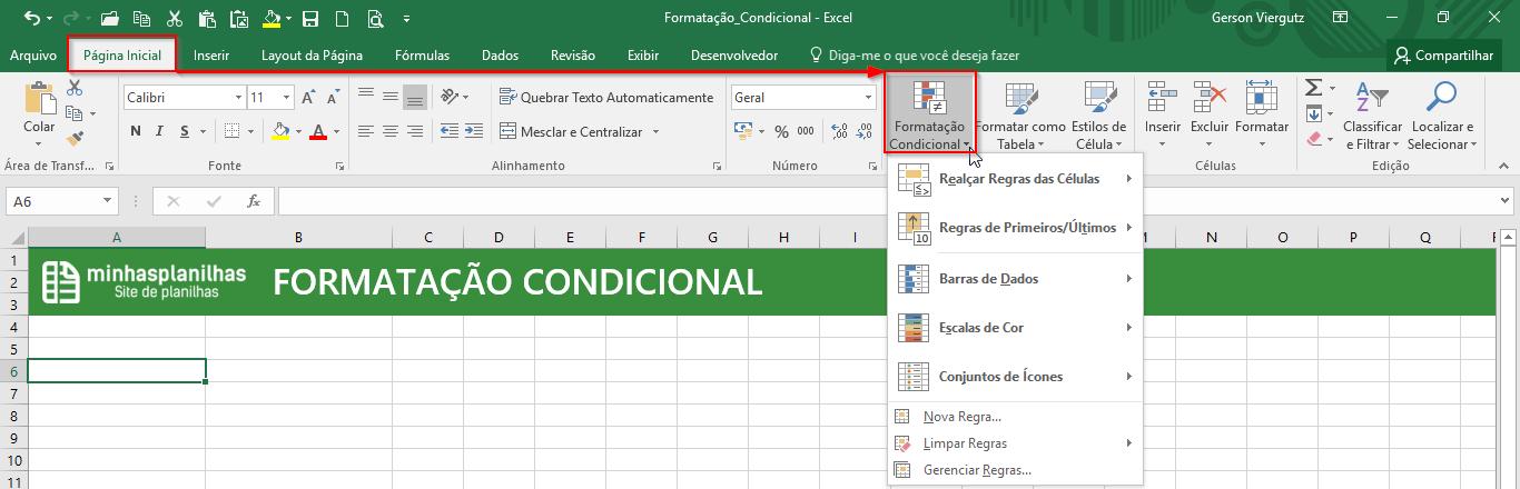 Formatação Condicional no Excel