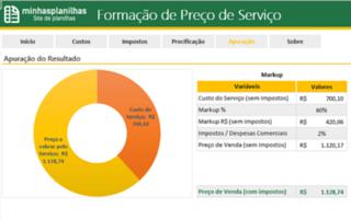 Planilha Formação de Preços de Serviços em Excel