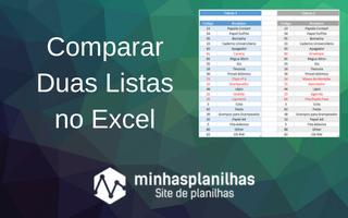 Comparar Duas Listas Excel