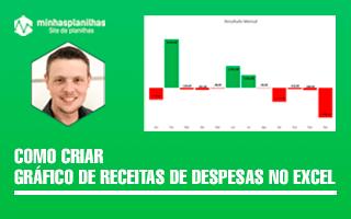 Gráfico de Receitas e Despesas no Excel