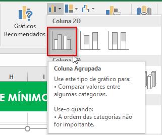 Gráfico Colunas no Excel