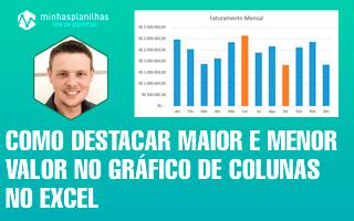 Destacar o Maior e Menor Valor no Gráfico de Colunas no Excel