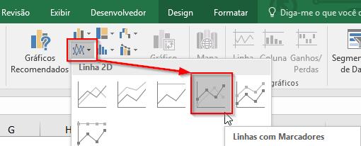 Gráfico de Linha Excel