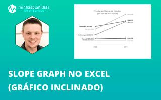 Como Criar um Slope Graph  no Excel