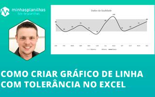 Gráfico de Linha com Tolerância no Excel