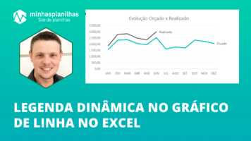 Legenda Dinâmica no Gráfico de Linha no Excel