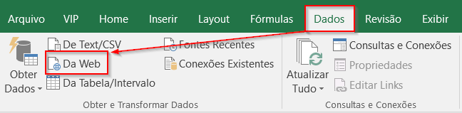 Previsão do Tempo Excel Power Query