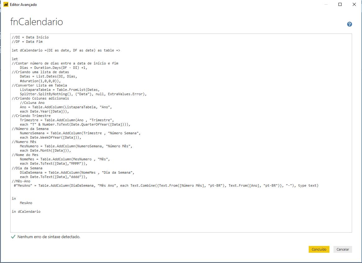 Editor Avancado Power BI