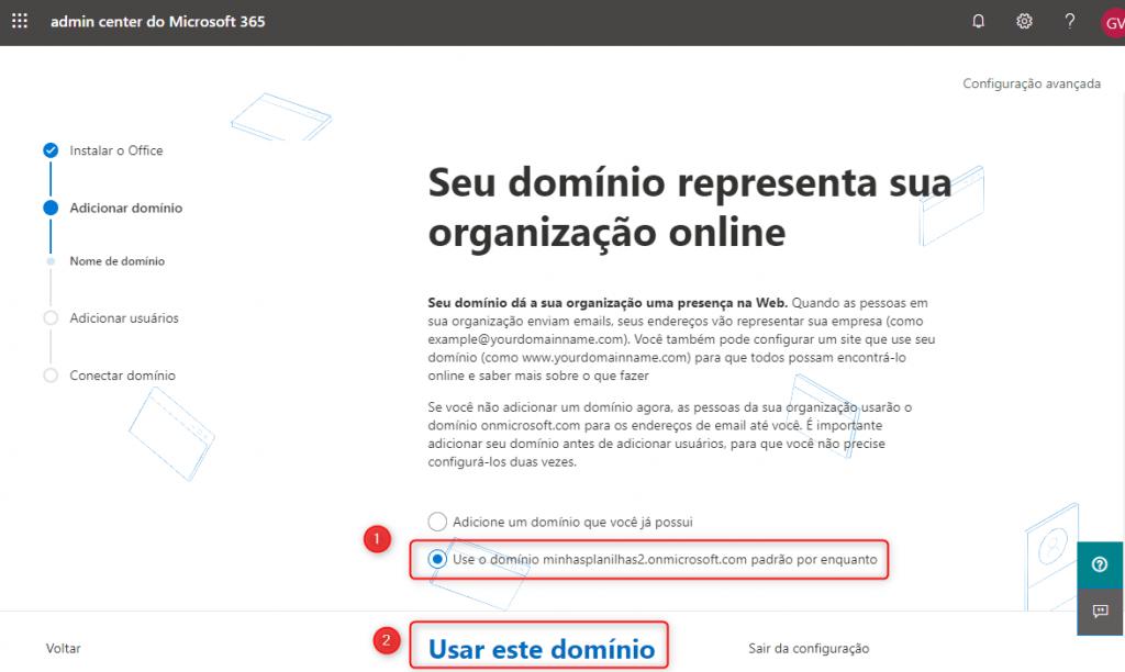 Configuração Office 365