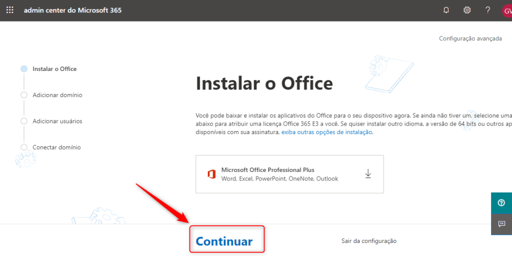 Configuração do Office 365
